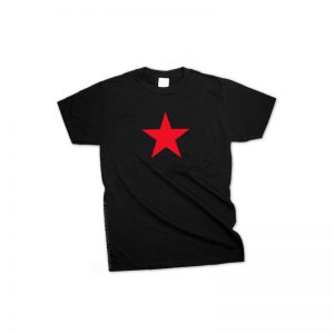 T shirt US red star black
