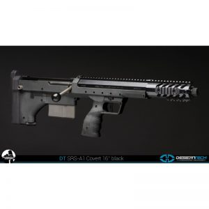 SRS A1 16 Inches Barrel, Pull Bolt, Black stock