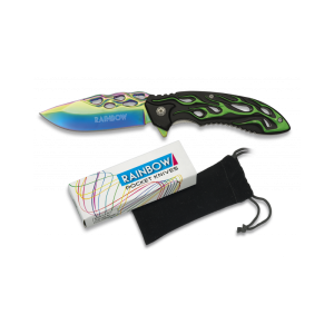 Couteau Colorful. Lame titane